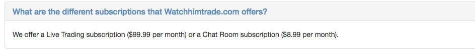 WHT Subscriptions