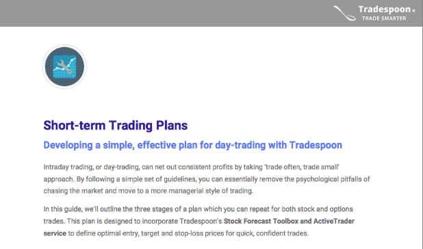 Tradespoon Day Trading Plan