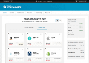 Motley Fool Stock Advisor Dashboard