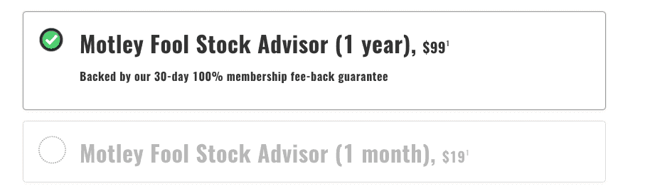 Stock Advisor Pricing