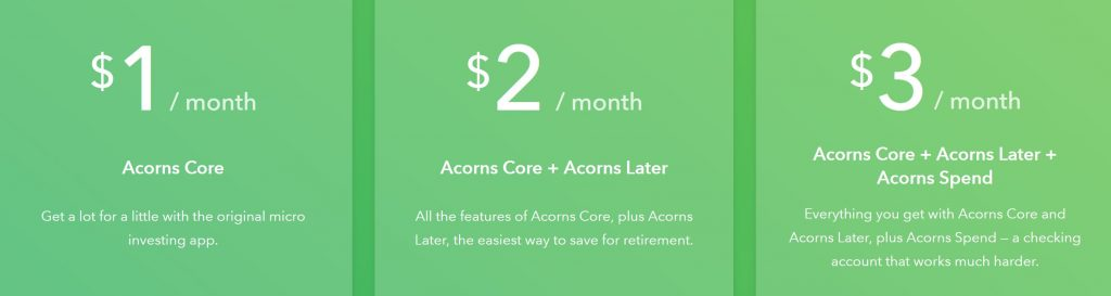 Acorns Pricing