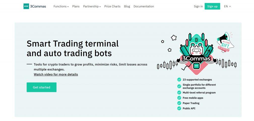 3Commas Homepage