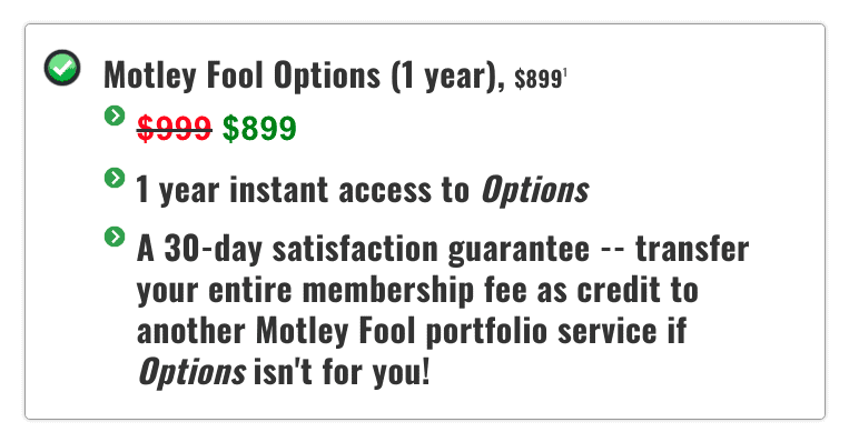 Motley Fool Options Subscription Pricing